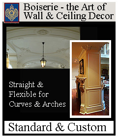 click for boiserie wall and ceiling decor