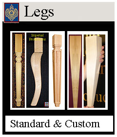 A wide selection of standard furniture legs
