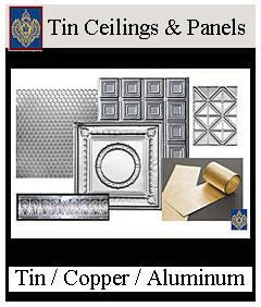 tin ceiling panels and crowns