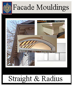 Facade mouldings for house and store fronts