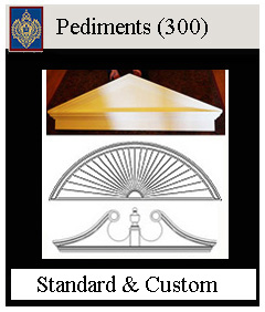 pediments for above doors and windows