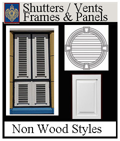 shutters and vents frames and panels