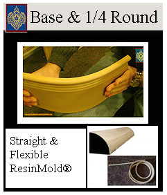 straight and curved baseboards