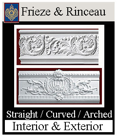 straight and curved frieze and rinceau