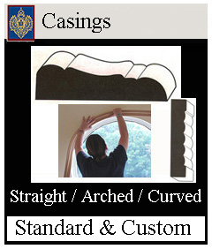 casings curved and arched